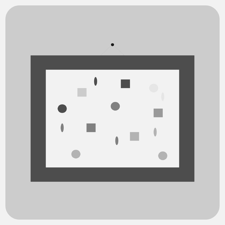 rectangle: Flat icon-pictures on the wall Illustration