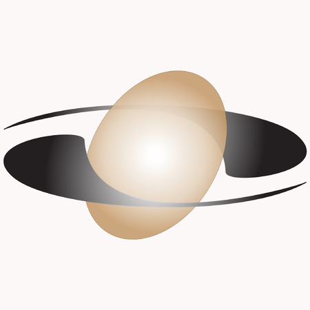 An ellipsoidal sphere with two satellites around Ilustrace