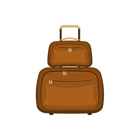 Travel bags suitcases on isolated white background.