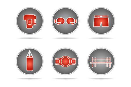 Boxing icons set - Vector illustration Vector