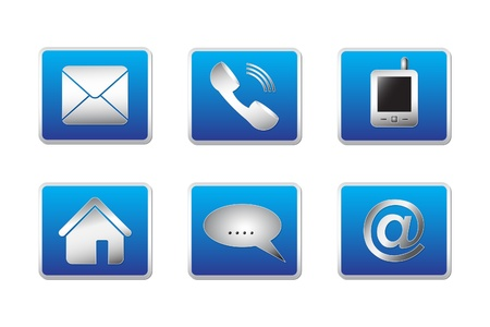 Contact web and internet icons set - Vector illustration Vector