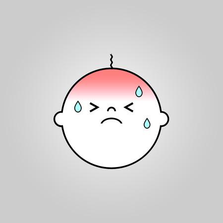 baby sick: Baby sick icon design Illustration