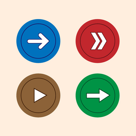 down under: Arrow icon set four color