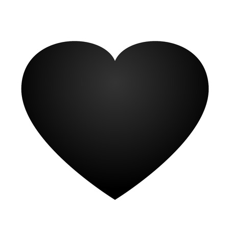 Black heart vector design