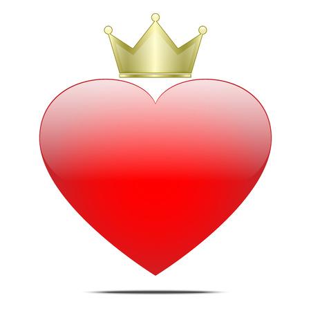 Disegno vettoriale di re del cuore Archivio Fotografico - 82701189