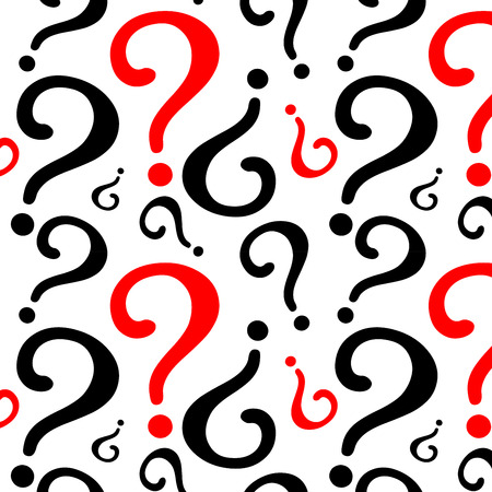 Question mark pattern design Illustration