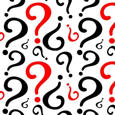 Question mark pattern design 矢量图像