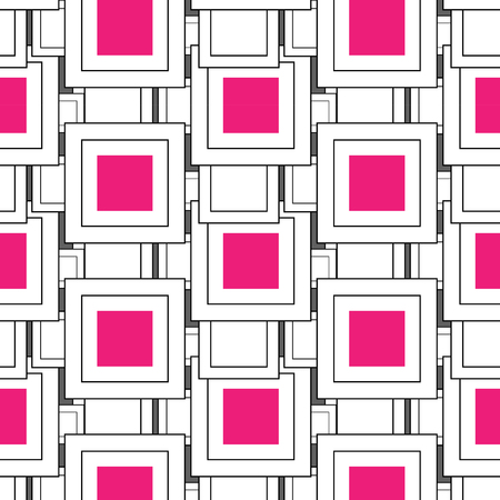 Square abstract pattern vector design Çizim