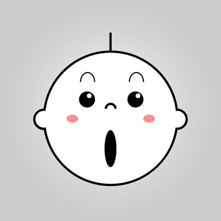 amazed: Baby surprised vector Illustration