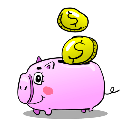 Piggy bank vector design