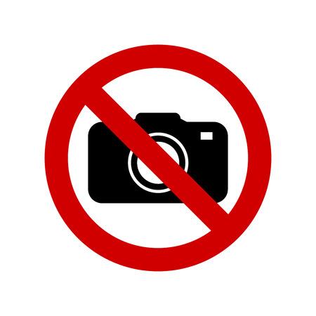 No camera no photo sign vector Иллюстрация