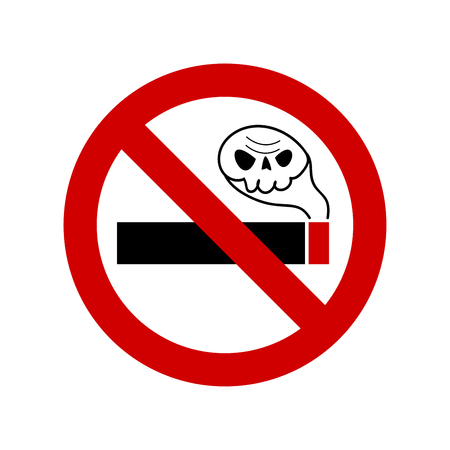 No smoking vector sign art