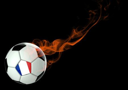 3D illustration Soccer Ball French Flag Design
