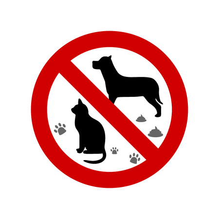 No pets allowed vector sign Ilustrace