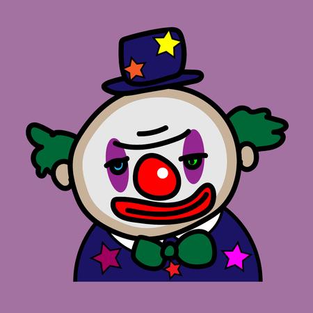 Clown avatar cartoon vector design Illustration
