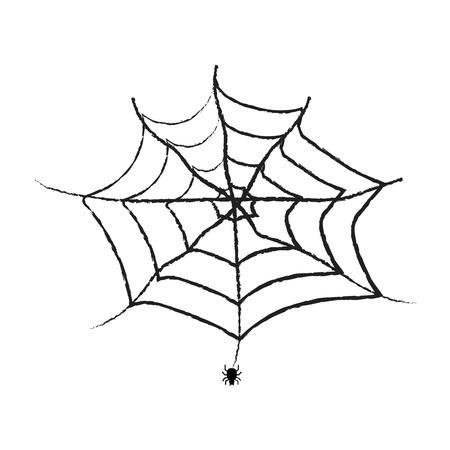 Spiderweb vector isolated Illustration