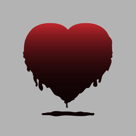 Heart vector for halloween design