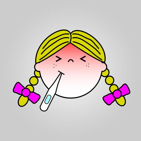 Baby sick icon vector design