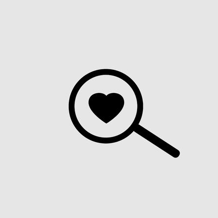 Search for love icon design