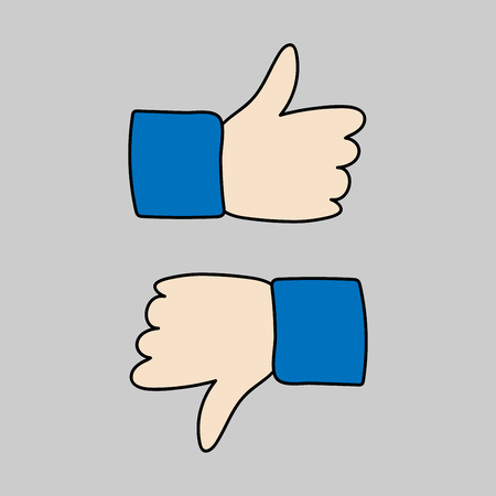 Like and dislike icon vector isolated