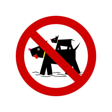 No pets allowed vector sign isolated