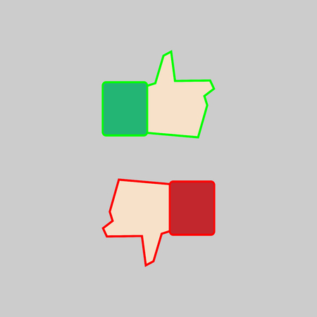 Like and dislike icon sign isolated Illustration
