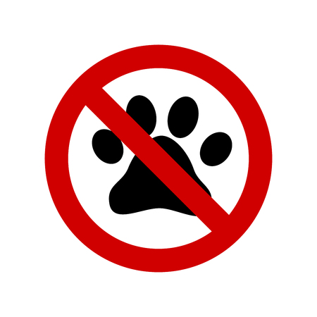 No pets allowed vector sign Illustration