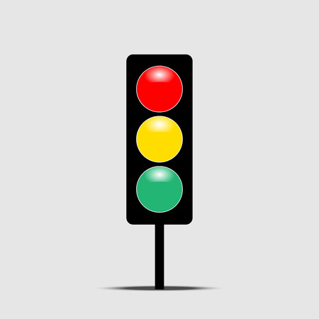Traffic light icon vector isolated