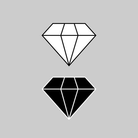 Diamond icon vector design. Illustration
