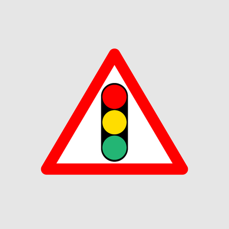 Traffic light icon sign isolated Vector illustration.