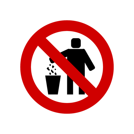 Do not litter sign vector isolated