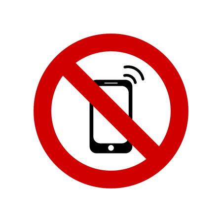 No cell phone vector Ilustrace