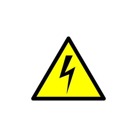 High voltage sign vector, isolated illustration.