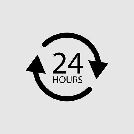 Vingt-quatre heures icône vecteur isolé
