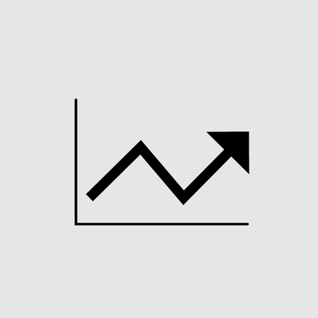 Chart icon vector design isolated
