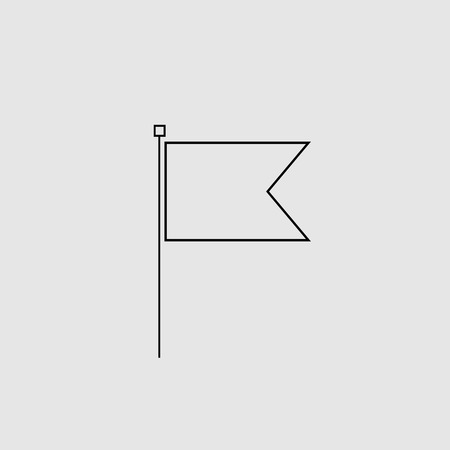 Flag icon art design isolated
