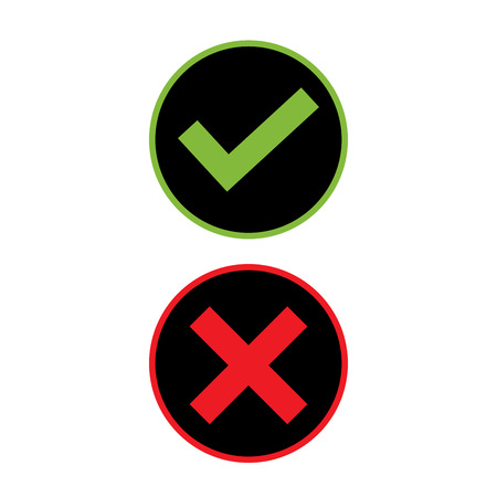 Right and Wrong icon design art