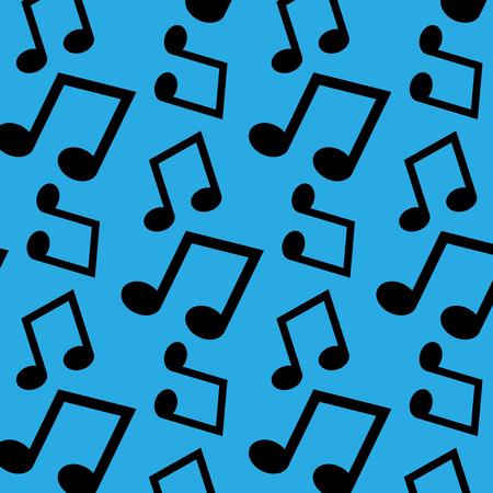 Music note pattern art design
