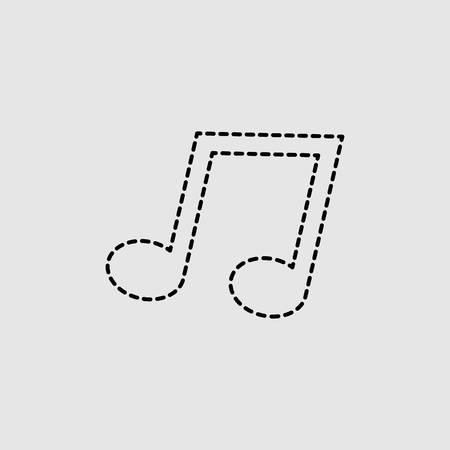 Music note icon vector isolated