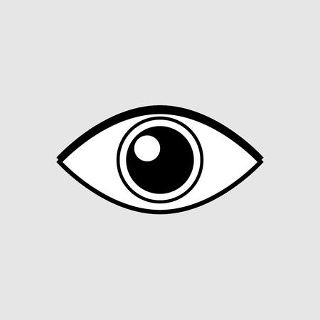 Eye icon vector design isolated