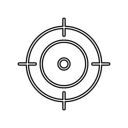 Target icon design vector isolated Ilustração