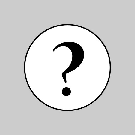 Question mark icon vector sign