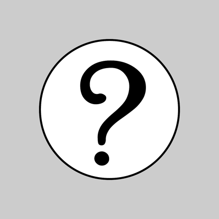 Question mark vector sign icon