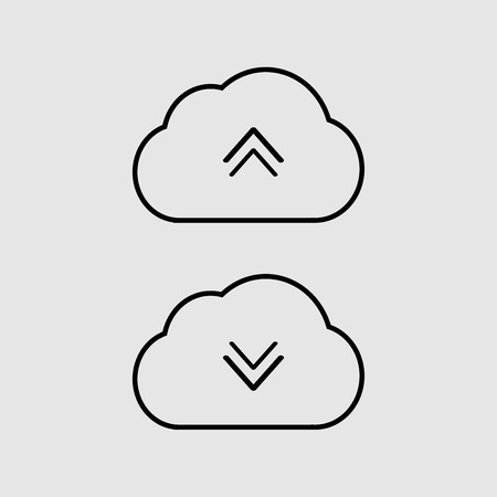 Cloud icon art vector sign Ilustração