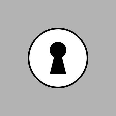 Keyhole icon vector design isolated