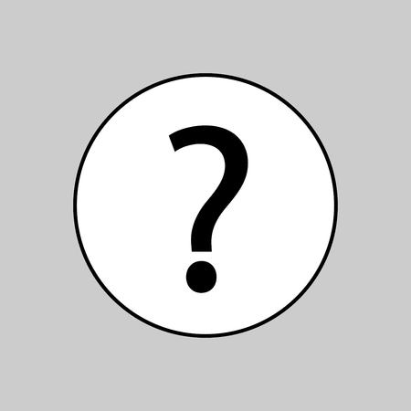 Question mark vector art isolated Ilustração
