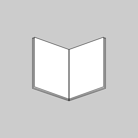 Book icon vector art isolated