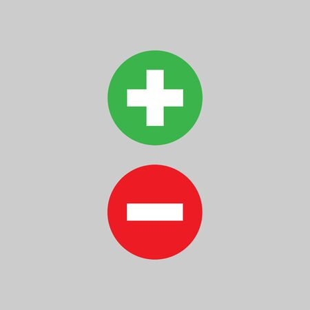 Plus and minus icon vector design