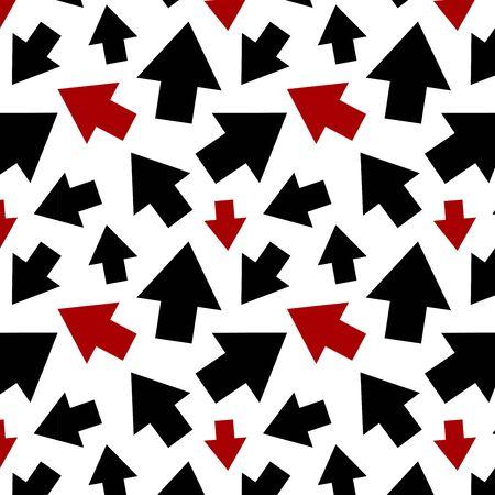 Arrow pattern art background Ilustração