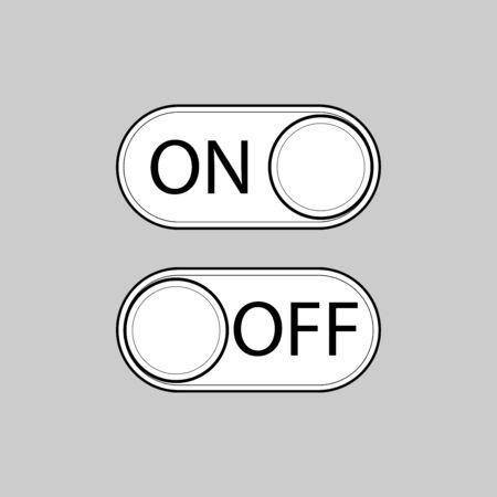 On Off icon vector design Ilustração